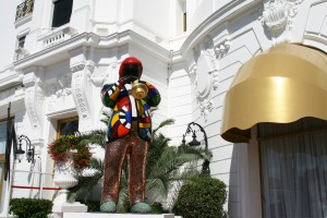 Miles Davis Greets Visitors to the Negresco Hotel in Nice